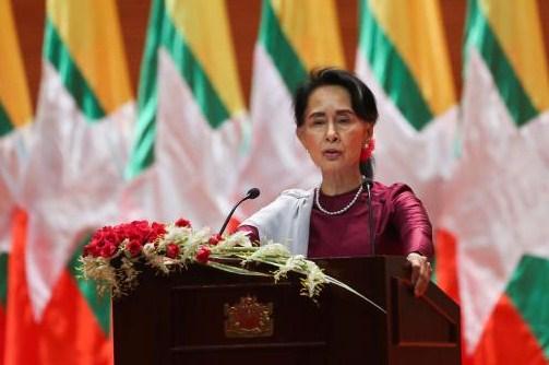 Suu Kyi's speech at a glance