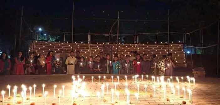 কুবিতে মোমবাতি প্রজ্জ্বলনে ব্রাহ্মণবাড়িয়া মুক্ত দিবস পালিত